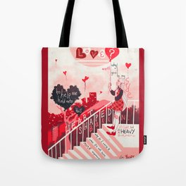 Heart Shaped Balloon Tote Bag