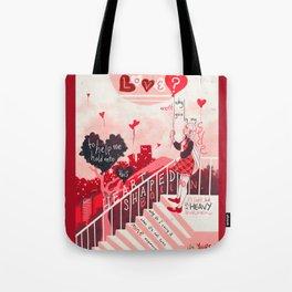 Heart Shaped Balloon Tote Bag