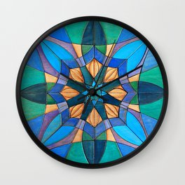 Leafy Mandala Wall Clock