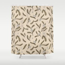 Mistletoe Pattern Shower Curtain