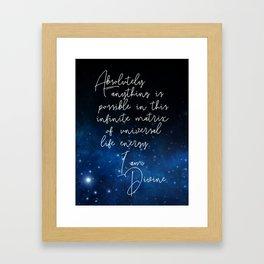 divinity affirmation Framed Art Print