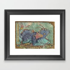 Water Dragon - Chrono Cross Framed Art Print