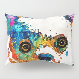 Colorful Chihuahua Art by Sharon Cummings Pillow Sham