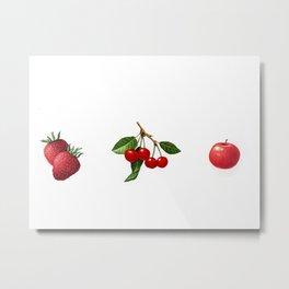 Hug Your Farmer (Red Fruits) Metal Print