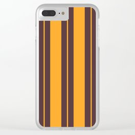 Retro Vintage Striped Pattern Clear iPhone Case