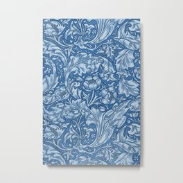 Blue Bachelors Button by William Morris Metal Print