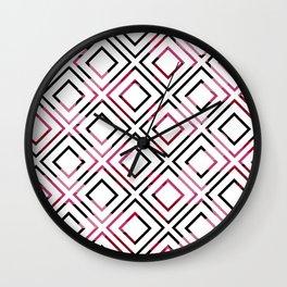 Basic Pre-Columbian Pattern Wall Clock