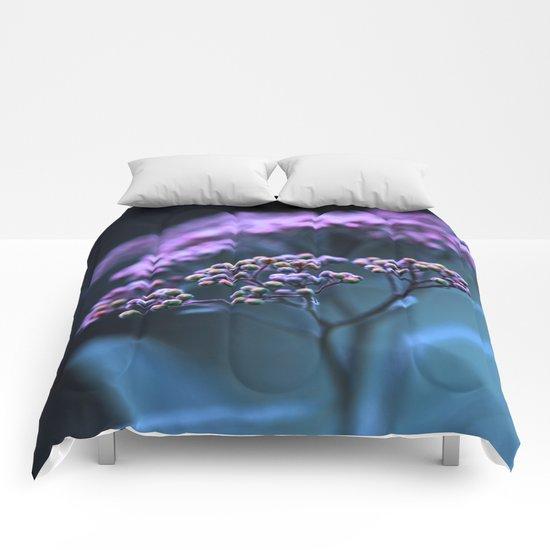 Purple hue. Comforters