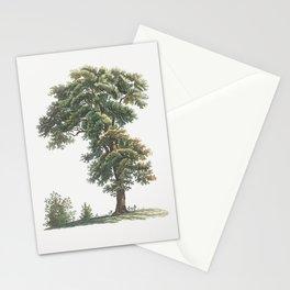 Vintage Oak Tree Poster Stationery Cards