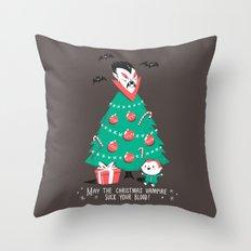 Return of the Christmas Vampire Throw Pillow