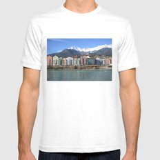 Innsbruck SMALL White Mens Fitted Tee