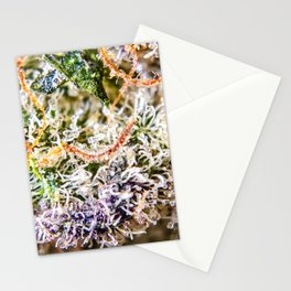 Diamond OG Indoor Hydroponic Close Up View Buds Trichomes Stationery Cards