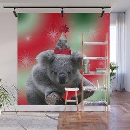 Christmas Koala Wall Mural