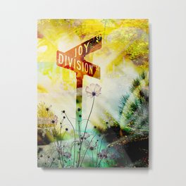 """Corner of Joy And Division"" Metal Print"