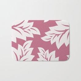 tropical pink leaves Bath Mat