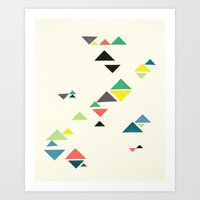 triangles Art Prints featuring Triangles by Cassia Beck