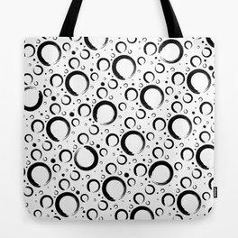 Enso Circle - Zen pattern Black and white Tote Bag