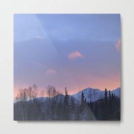 Chugach Mts Serenity Sunrise - II Metal Print