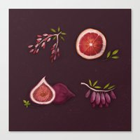 fruits Canvas Prints featuring Fruits by Oilikki