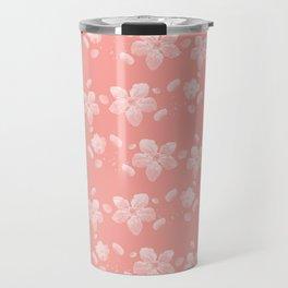 Sakura Pattern Travel Mug