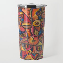 Face VI Giclee print from Cameroon, Africa Travel Mug