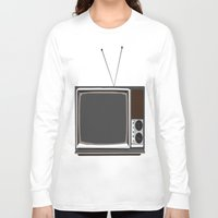 tv Long Sleeve T-shirts featuring Television by Jarom Ward