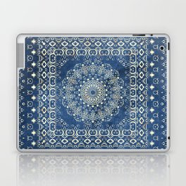 Old Bookshop Magic Mandala in Blue Laptop & iPad Skin