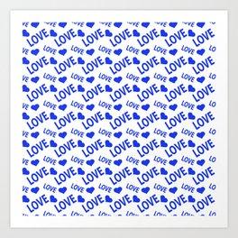 Love Heart Blue Art Print