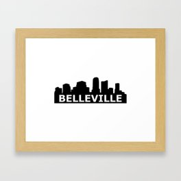 Belleville Skyline Framed Art Print
