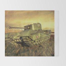 Churchill Tank Throw Blanket