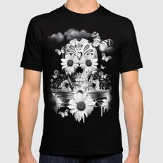 Dreaming of daisies MEDIUM Black Mens Fitted Tee