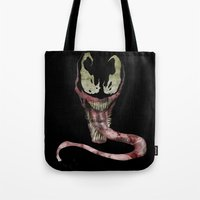 Tote Bags featuring We are Venom by Vickn
