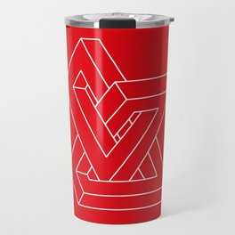 Optical illusion - Impossible figure Travel Mug