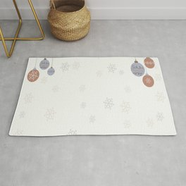 illustrations bauble christmas Rug