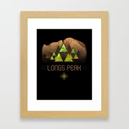 Longs Peak Framed Art Print