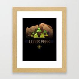 Longs Peak Framed Art Print