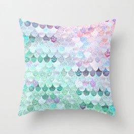 SUMMER MERMAID - CORAL MINT Throw Pillow