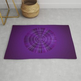 Magical Mystery Purple Shimmering Object Rug