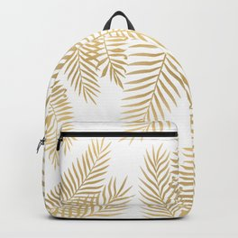 Gold palm leaves Backpack