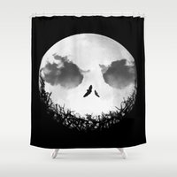 jack skellington Shower Curtains featuring The Nightmare Before Christmas - Jack Skellington by Bastien13