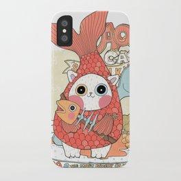 Aqua cat_ Rappa iPhone Case