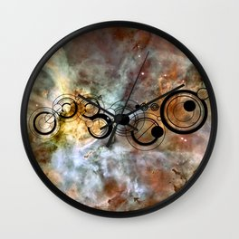 Doctor Who Allons-y Gallifrey with the Carina Nebula  Wall Clock