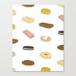 biscui - biscuit pattern Canvas Print