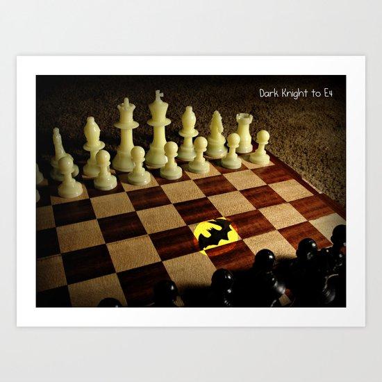 Gotham Meets Chess Art Print