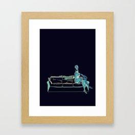 out of blue Framed Art Print