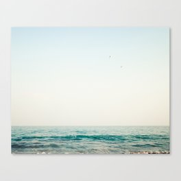 Jump, beach ocean art Canvas Print