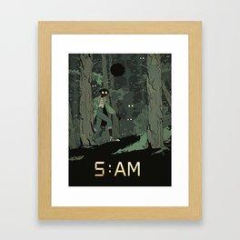 5 AM Framed Art Print