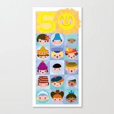 happy 50th small world! Canvas Print