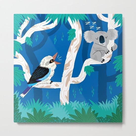 The Koala and the Kookaburra (version 2) Metal Print