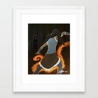 korra Framed Art Prints featuring Korra by charcola